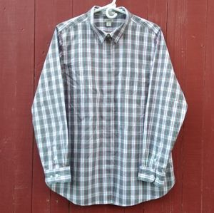 LL Bean plaid boyfriend's shirt in EUC